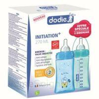 Dodie Initiation+ Biberon Tétine 3vitesses Débit 2 Bleu 270ml Coffret/2 à VINCENNES